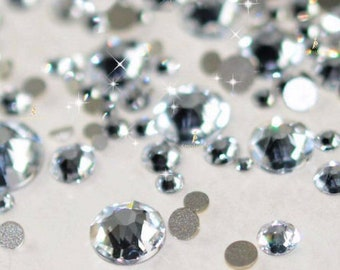 ff995a29d8b8 Swarovski Crystals CLEAR flat back stones rhinestone gems charms non hotfix  for nail art design shoes clothes etc