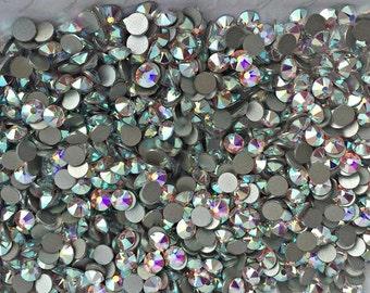 b775a7acd1e0 SWAROVSKI Crystals flat back stones rhinestones gems charms non hotfix for  design - Crystal AB