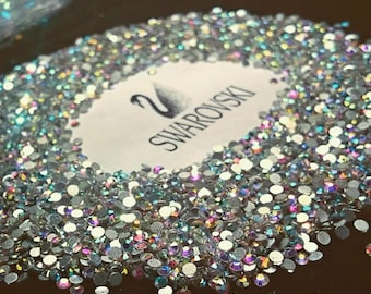 Swarovski crystals flat back stones gems rhinestones non hotfix 30 piece  crystal ab clear ALL Sizes for design nails clothes shoes art  b38968748c1b