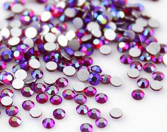 60ae84fb9a64 Swarovski Crystals SIAM AB flat back stones rhinestone gems charms non  hotfix for nail art design shoes clothes etc