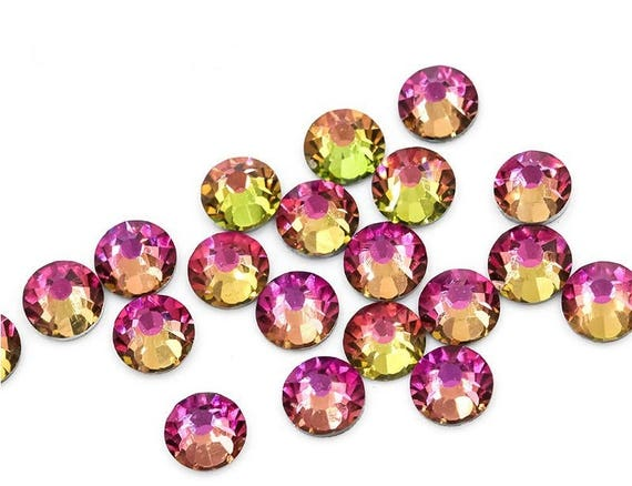 0bbd56614154 RAINBOW Swarovski crystals stones rhinestone gems strass flat