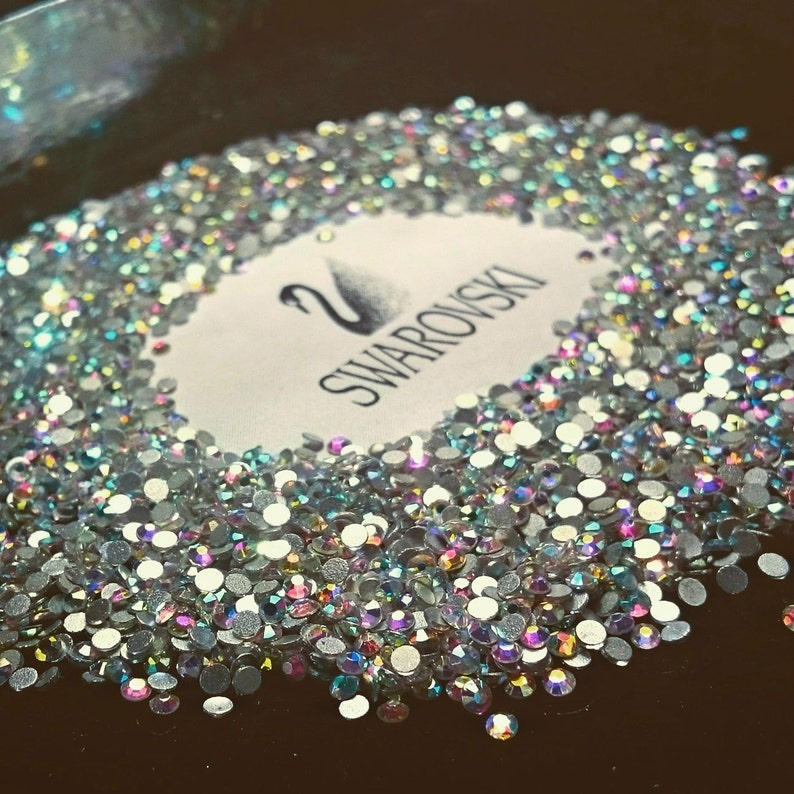 Swarovski crystals flat back stones gems rhinestones non hotfix 30 piece  crystal ab clear ALL Sizes for design nails clothes shoes art  7e7ea1c9ad11