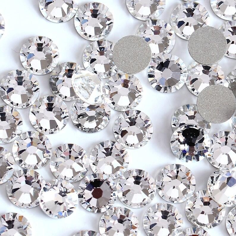 Swarovski Crystals CLEAR flat back stones rhinestone gems  cf3a8831c7a7