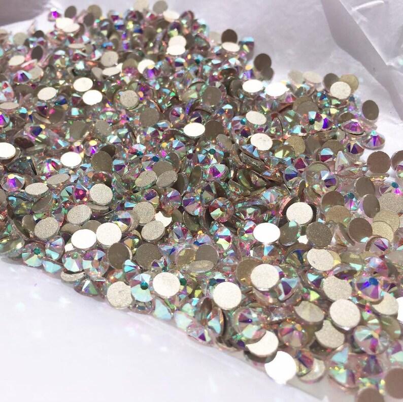 8a9cbd502dc9 Swarovski Crystals gems stones rhinestone non hotfix gold flat