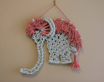 NurseryDecor/Macrame Elephant/ Shower gift