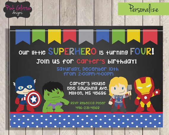 superhero birthday invite superhero birthday invitation etsy