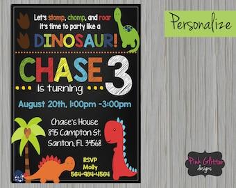 DIGITAL FILE, Dino Invitation, Dino Invite, Dino Birthday, Dino Party, Dinosaur Invitation, Dinosaur Invite, Dinosaur Party, Dinosaur