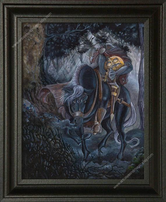 Headless Horseman 8x10 Sleepy Hollow Art Halloween Art