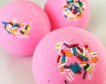 Pink confetti bomb