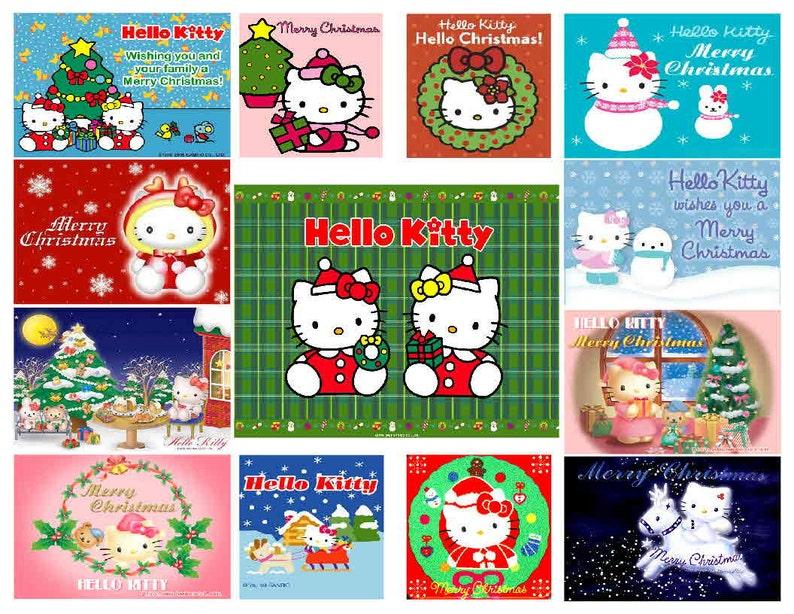 Hello Kitty Christmas.Hello Kitty Christmas Magnets