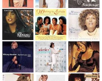 WHITNEY HOUSTON ALBUM magnets, 12 - Glossy