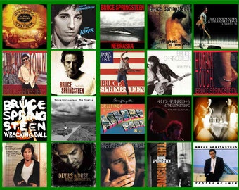 BRUCE SPRINGSTEIN ALBUM  covers  20 - Glossy