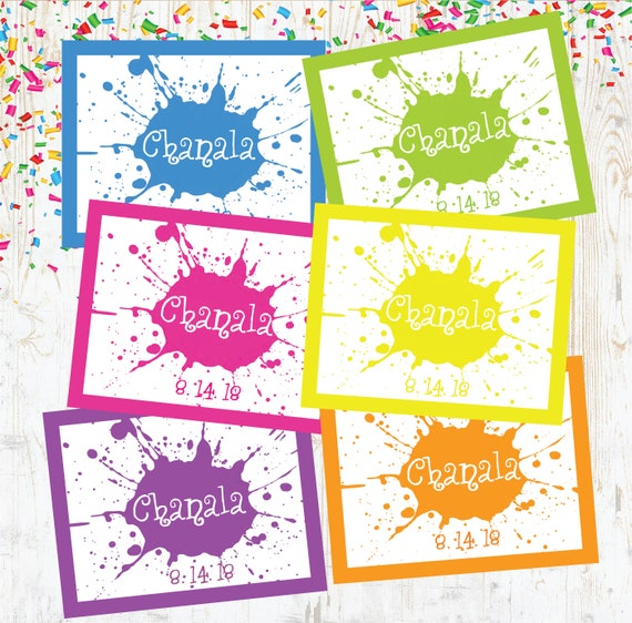 Splatter Art Birthday Personalized Party Table Placemat Decoration
