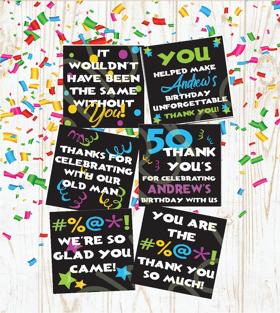 50th Birthday50th Birthday Cards50th Birthday Giftthank You Etsy