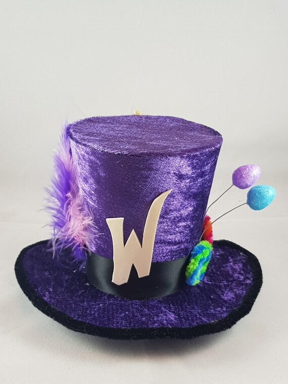 Willy Wonka Chocolate Factory Mini Top Hat Fancy Dress Halloween kids adults