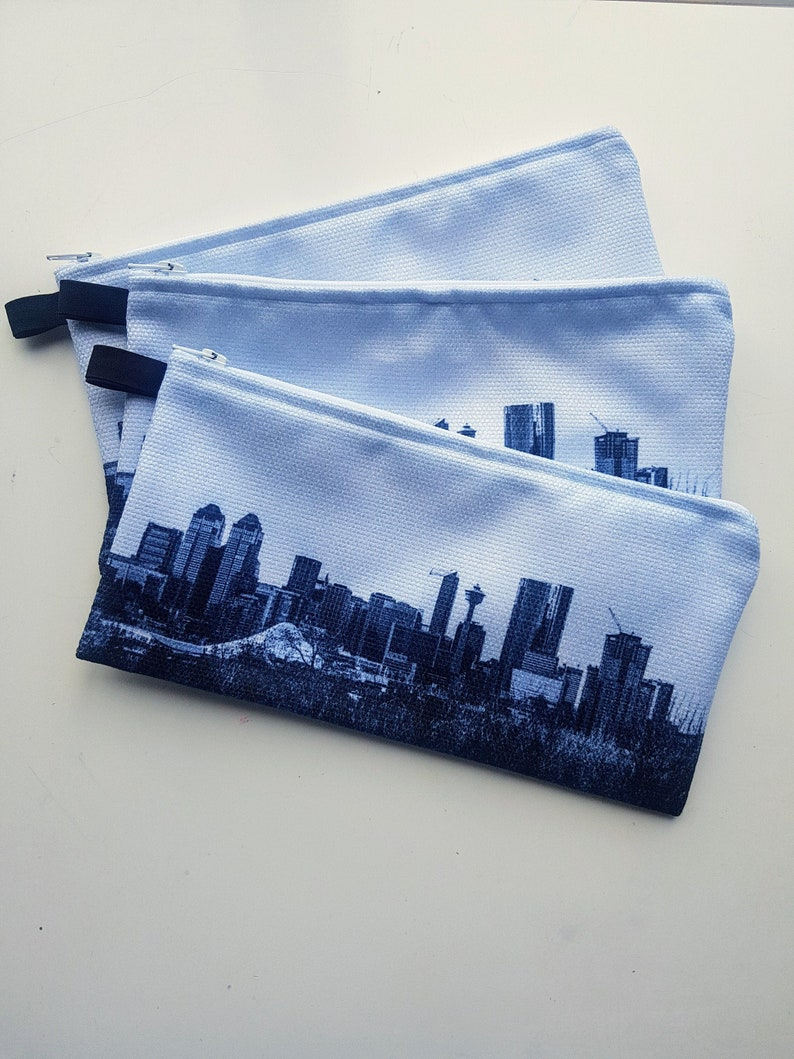 Pencil Case Calgary Skyline Zipper Case Pencil Pouch Glasses image 0