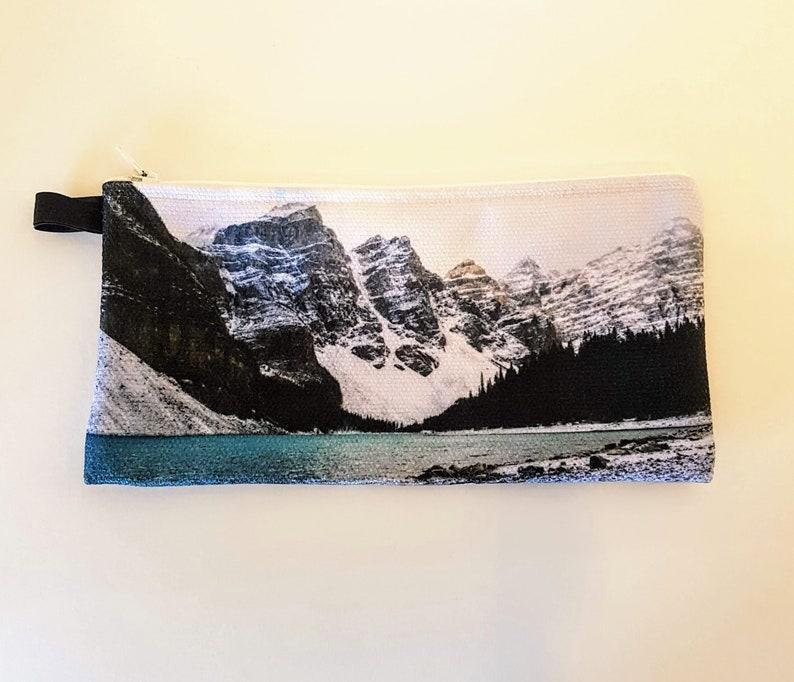 Pencil Case Zipper Pouch Nature Print Rocky Mountains Pen image 0
