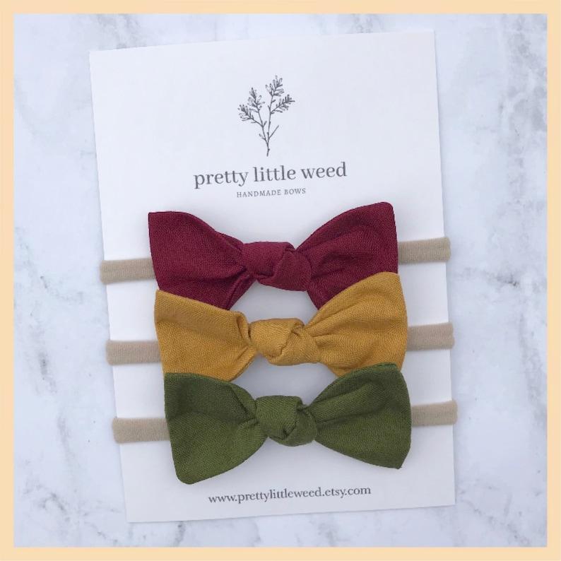 778abdb34bd8 Fall girls bows baby bow hair bows toddler pigtail bows