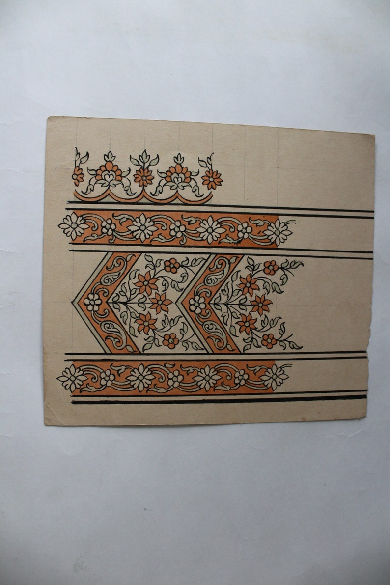 Old Textile handmade Design vintage collectible piece of art
