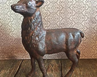 Cast Iron Deer Doe Bank