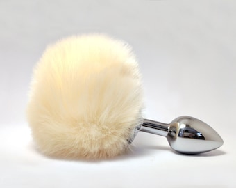 29e33629081 Ivory bunny tail butt plug - Anal plug tail - Sexual pleasure - Adult toys  - Anal decoration - Sexy erotic - BDSM Bunny sex toy - Mature