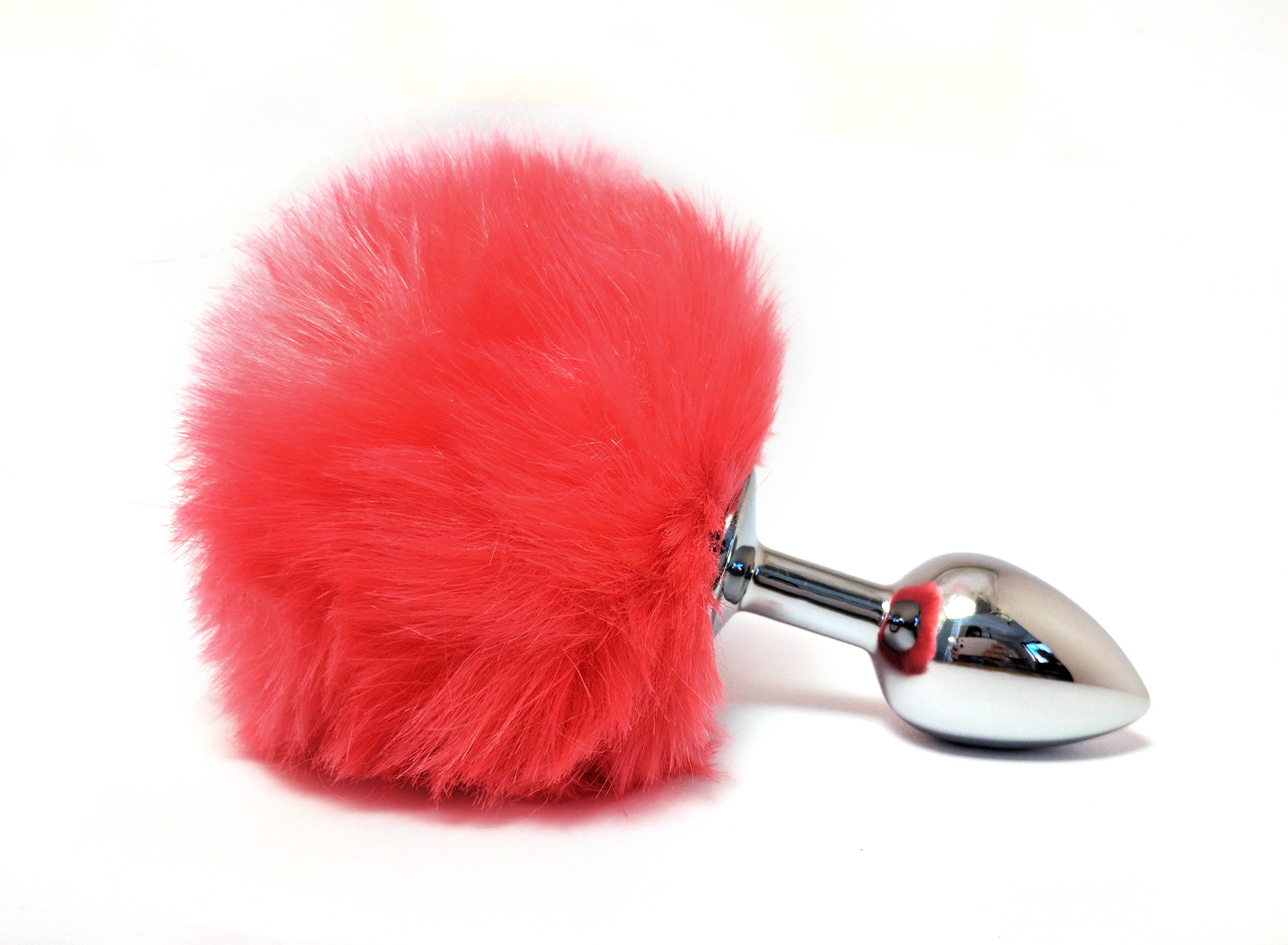 Hot Pink Bunny Tail Butt Plug Anal Beads Pet Play Anal  Etsy-1896