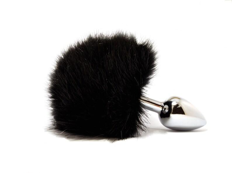 a9ee1b0b1e6 Black bunny tail butt plug Adult toys Sexy erotic