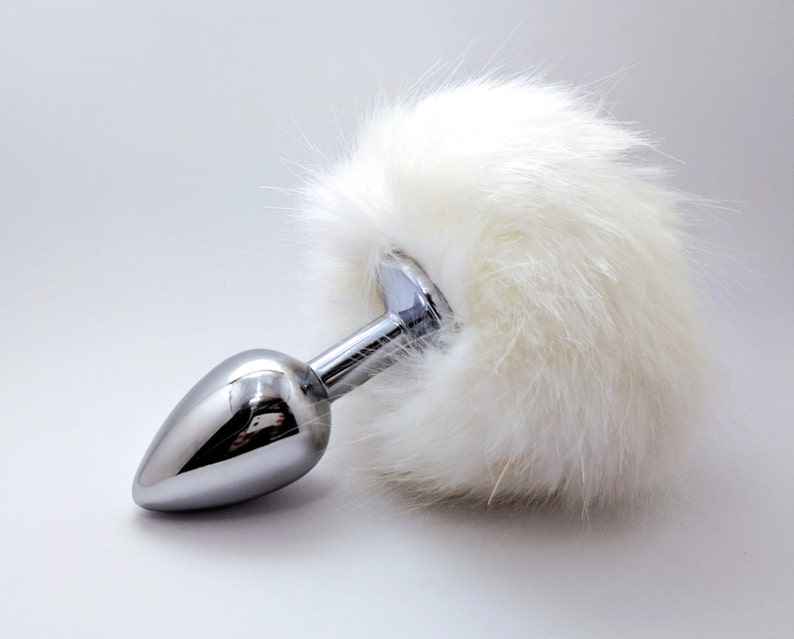 d370d30e54c White bunny tail butt plug Anal plug tail Adult toys