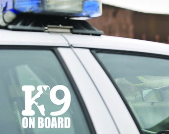 CAUTION K-9 DECAL SET Police Dog 5 huge Sticker Lot k9 BLACK 4 Car Truck SUV Van