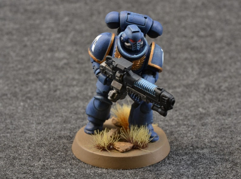 Space UltraMarine HellBlaster Battle Brother with Assault image 0