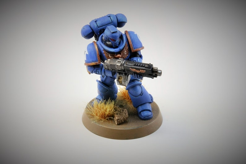 Space UltraMarine Intercessor Battle Brother with Auto Bolt image 0