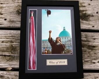 Graduate Frame, Handmade Gift, Graduate Frame Table Decor, Class f 2018, Black Picture Frame, Grad Frame, Grad Gift, Handmade Picture Frame