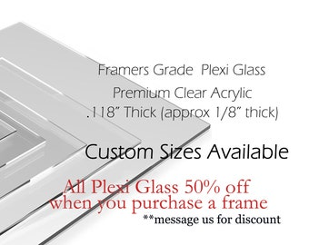 Plexiglass, Message us for a quote. Acrylic for Picture Frame,  Custom cut any size,  Sneeze proof barrier. Protective shield.