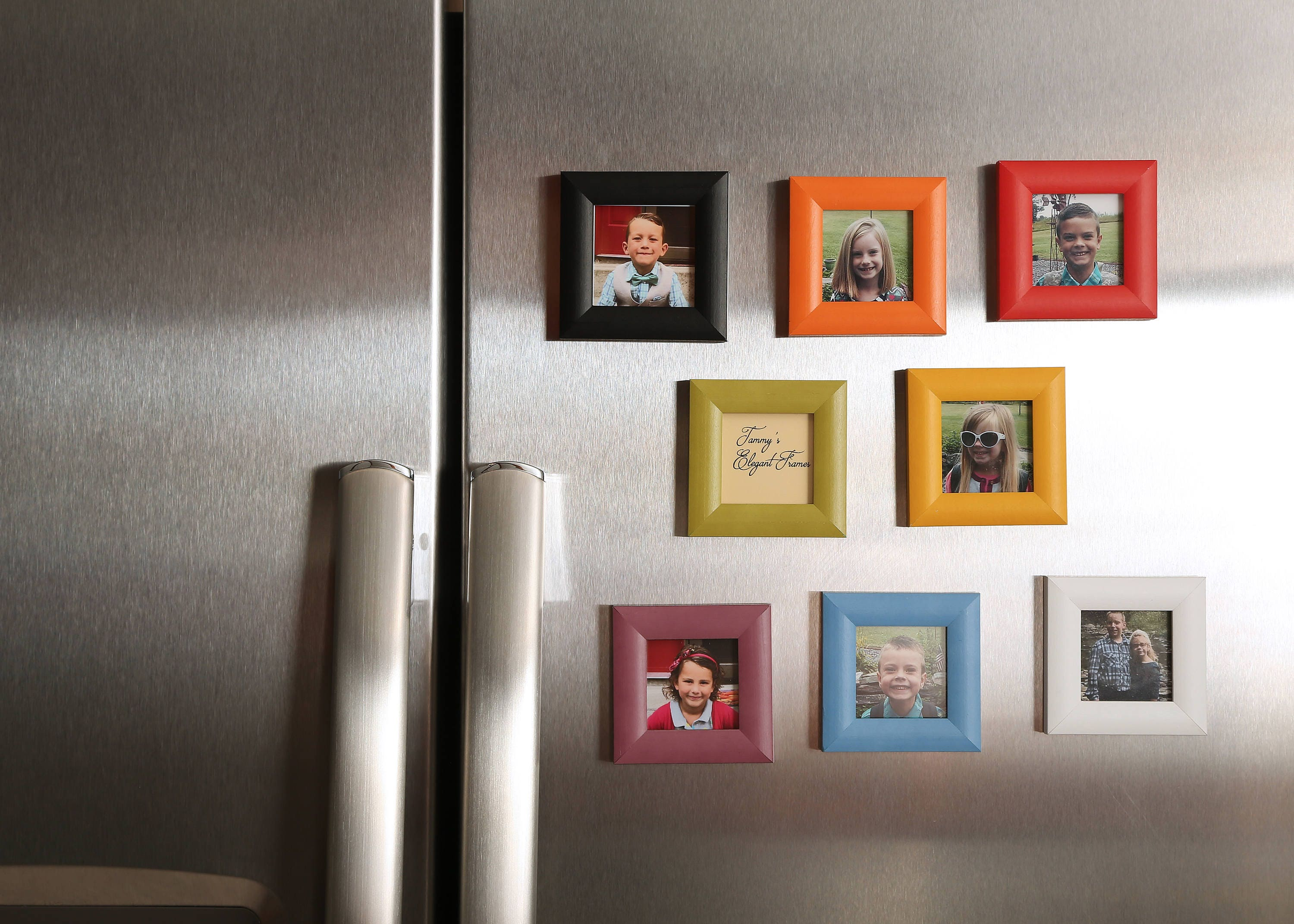 Wood Magnet Picture Frame Home Decor Beautiful Vibrant