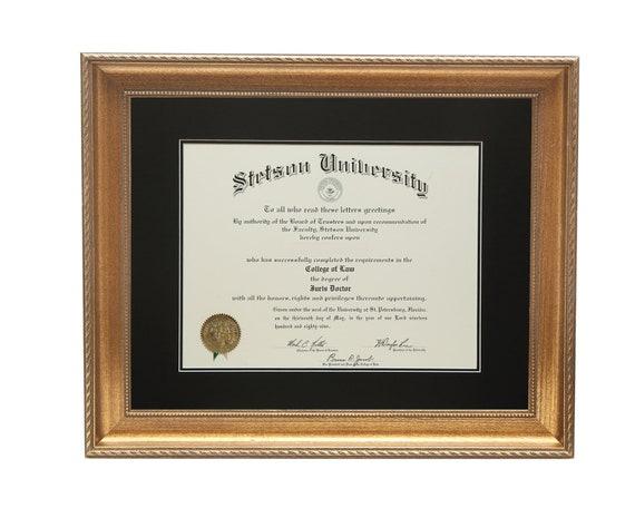 Diploma Frame Gold Certificate Frame 8 12 X 11 11 X 14 15 Etsy