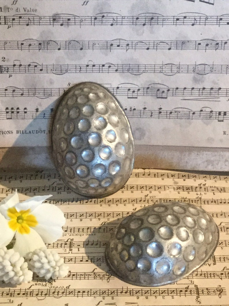2 tlg. Egg Shabby Antique Chocolate shape Dots