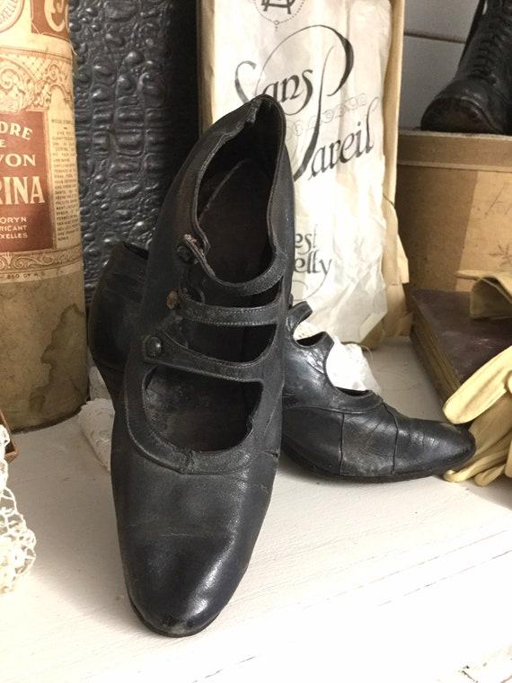 Antique Women's Shoes, Dance Shoes, France, Shabby