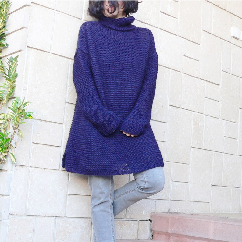 735d820574a Chunky sweater dress slouchy hand knit sweaterdress over sized