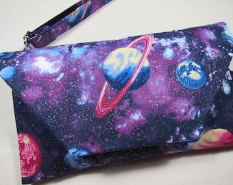 Personalised Boys Wallet SOLAR PLANETS Space Childrens Birthday Gift SH240
