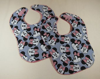 Bibs Set of 2 featuring Disney Inspired Minnie Mouse