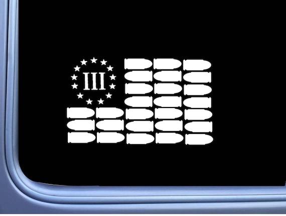 Bullet Flag Flag Decal Sticker 8 Patriotic American