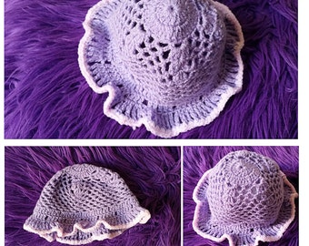 Baby crochet knitted hat