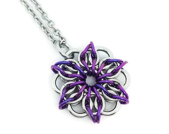 Necklace Gift Set, Gift for Her, Pendant and Chain, Stainless Steel, Niobium, Hypoallergenic