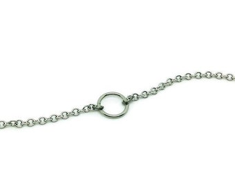 Karma Circle Necklace, Hypoallergenic Stainless Steel Chain, Infinity Necklace, Eternity Necklace