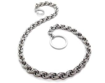 Wallet Chain, Stainless Steel, Wallet Accessories, Unique Groomsmen Gifts, Mens Gift, Biker Chain