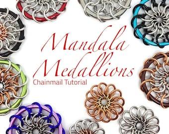 Mandala Tutorial/Pendant Tutorial/Chainmail Tutorial/Chainmaille Tutorial/Chainmail Weave Tutorial/DIY Chainmail/Instant Download