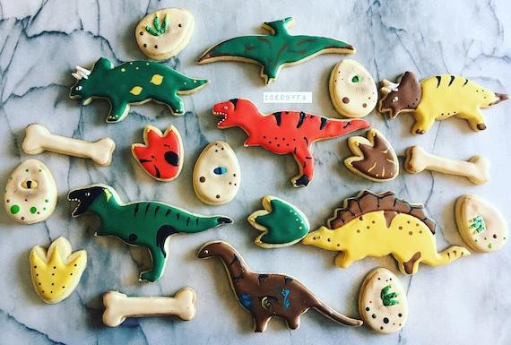 Galletas De Dinosaurios Galletas De Azucar Bandeja De Etsy Conoce todas las especies de galletas dinosaurus. galletas de dinosaurios galletas de azucar bandeja de galletas
