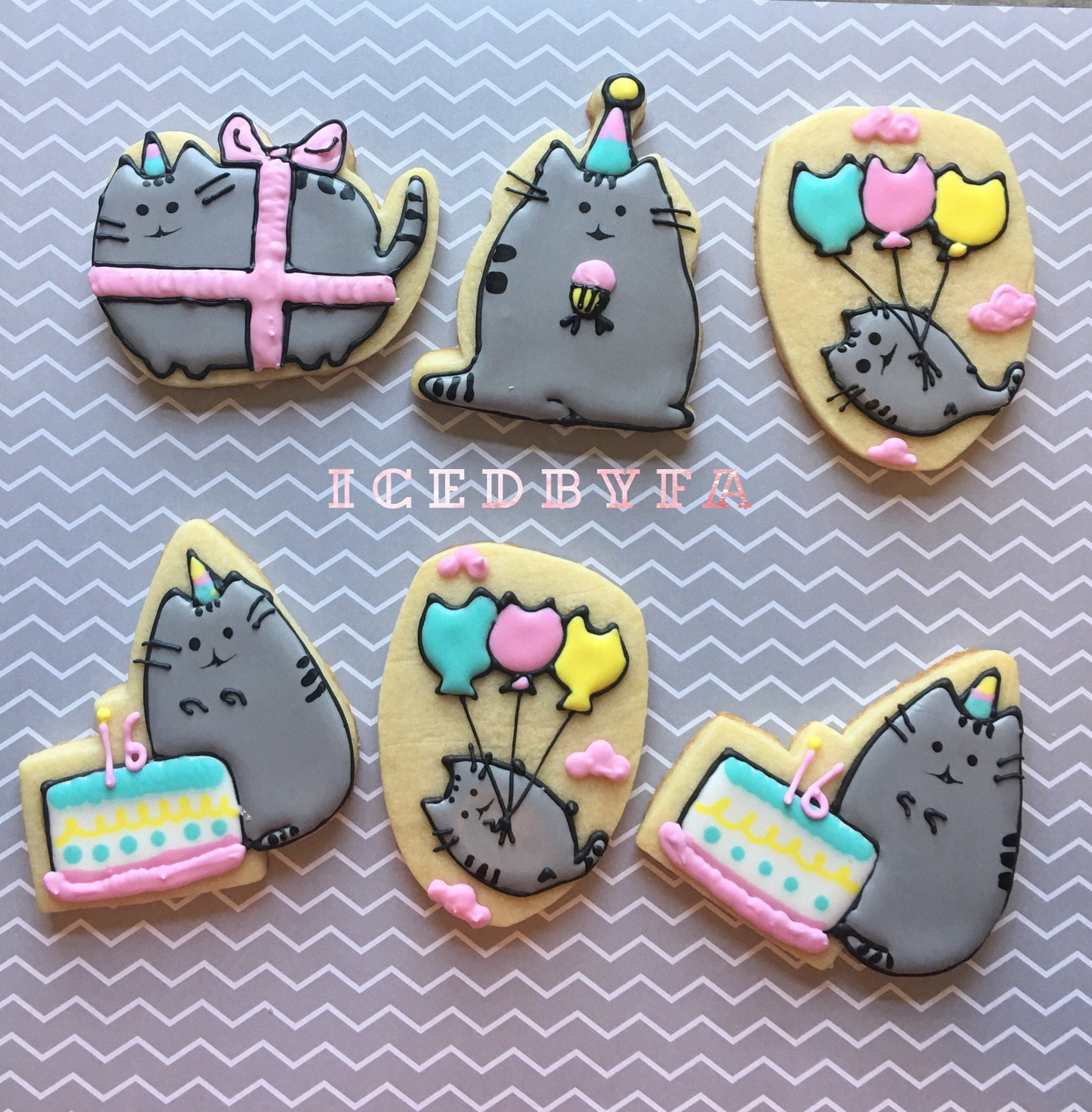 cat cookies pusheen
