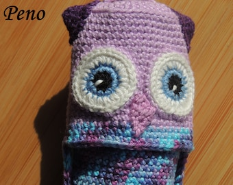 Owl pencil case, pencil case, animal case, children case,toy for schoolchild, back to school, gift idea, animal lover gift, purse as gift