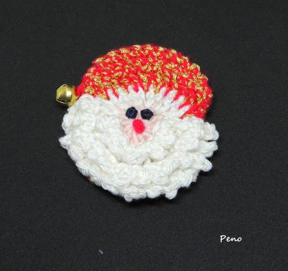 Santa Ornament Crochet Christmas Santa Ornament Santa Face Etsy